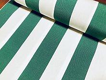 Emerald Green & White Striped DRALON Outdoor