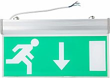 Emergency Exit Sign Light, Exit Lighting Sign, LED