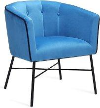 Emery Tub Chair Metro Lane Upholstery Colour: Navy