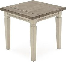 Emery Wooden Lamp Table Square In Antique White