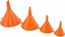 EMFGJ 4Pcs Plastic Funnel Set Plastic Orange