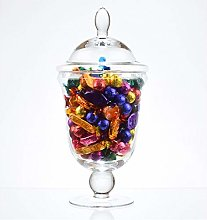 EMH Large Footed Glass Jar Cookie Sweet Bonbon
