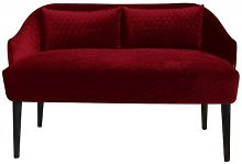 Emi Loveseat Happy Barok Upholstery: Red