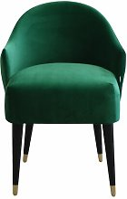 Emi Tub Chair MONKEY MACHINE Upholstery: Dark Green