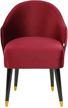 Emi Tub Chair MONKEY MACHINE Upholstery: Red