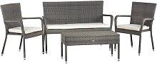 Emiliah 4 Seater Rattan Sofa Set Sol 72 Outdoor