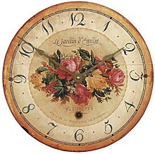 Emilie Rose Wall Clock - 36cm