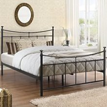 Emily Black Metal Bed Frame - 4ft6 Double