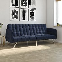 Emily Leather Convertible Clic Clac Sofa bed In