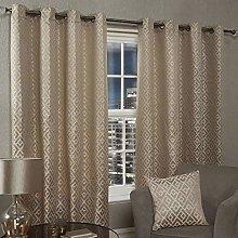 Emma Barclay Athens Eyelet Curtain 46 X 72 inches