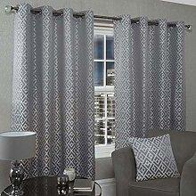 Emma Barclay Athens Eyelet Curtain 66 X 72 inches