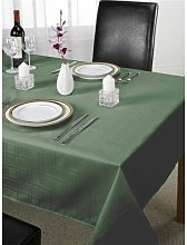 Emma Barclay Chequers Tablecloth, Forest Green, 52