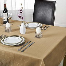 Emma Barclay Chequers Tablecloth, Latte, 70 Inch