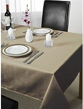 Emma Barclay Chequers Tablecloth, Latte, 70 x 108