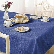 Emma Barclay Damask Rose Tablecloth, Sax Blue, 60