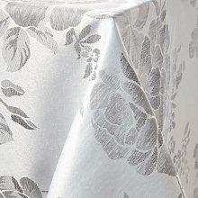 Emma Barclay Grace Silver Oblong Tablecloth 70x108