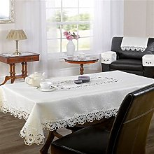 Emma Barclay Lucinda Lace Woven Tablecloth, Cream,