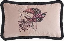 Emma J Shipley Audubon Rectangular Pink Cushion