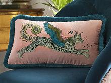 Emma J Shipley New Lynx Pink Boudoir Cushion