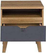 Emmeline 1 Drawer Bedside Table Isabelline Colour: