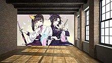 emon Slayer 3D Self Wallpaper Mural Hand-Painted