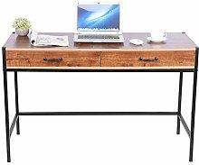 Emoshayoga Oak Brown Easy to Assemble Computer