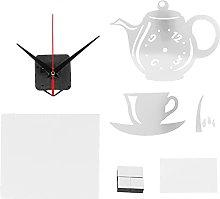 Emoshayoga Teapot Wall Clock Sticker Modern DIY