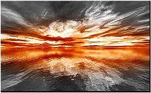 Emotorange - Orange grey wall art Large room