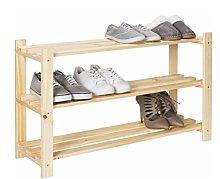 Empire Sterling 3 Tier Part-Assembled Shoe Rack -