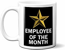 Employee of The Month Gold Star ON Black 15oz