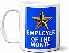 Employee of The Month Gold Star ON Blue 15oz