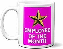 Employee of The Month Gold Star ON Pink 15oz