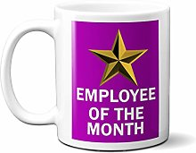 Employee of The Month Gold Star ON Purple 11oz