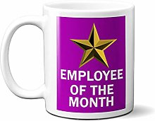 Employee of The Month Gold Star ON Purple 15oz