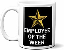 Employee of The Week Gold Star ON Black 15oz