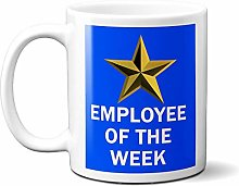 Employee of The Week Gold Star ON Blue 15oz