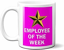 Employee of The Week Gold Star ON Pink 15oz