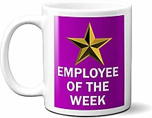 Employee of The Week Gold Star ON Purple 15oz