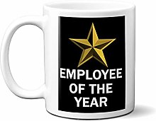 Employee of The Year Gold Star ON Black 15oz