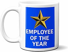 Employee of The Year Gold Star ON Blue 15oz