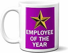 Employee of The Year Gold Star ON Purple 15oz