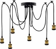 EmyTock Lighting Industrial Cluster 6 Way Pendant