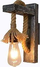 EmyTock Wood Retro Industry Wooden Wall Lamp Light