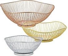 [en.casa] decorative fruit bowl basket - set of 3