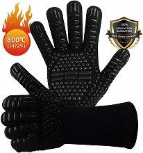 EN407 Non-Slip Silicone Barbecue Gloves for