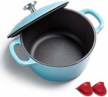 Enamel Coated Cast Iron Cookware Pot, Nonstick