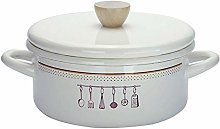 Enamel Lid Casserole with Lid Japanese Style Pot