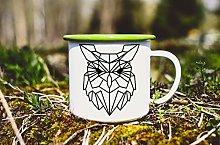 Enamel Mug with owl Origami owl Custom Mug Enamel