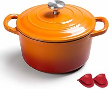Enameled Cast Iron Round Dutch Oven, Nonstick
