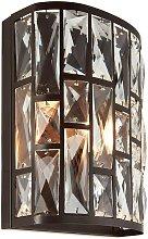 Endon - 1 Light Indoor Wall Light Dark Bronze with